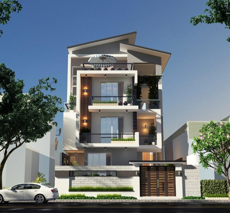 Những mẫu nhà phố 3 tầng sang trọng