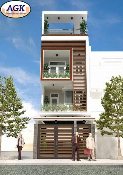 Bản vẽ thiết kế nhà mặt phố đẹp 5x24m gồm 3 tầng chi tiết nhất